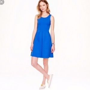 J.Crew Royal blue Tank fit and flare dress